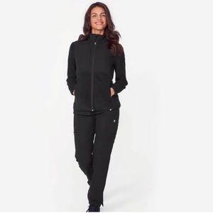 Figs | Jacket Ferrier Fleece Zip Up Large Black
